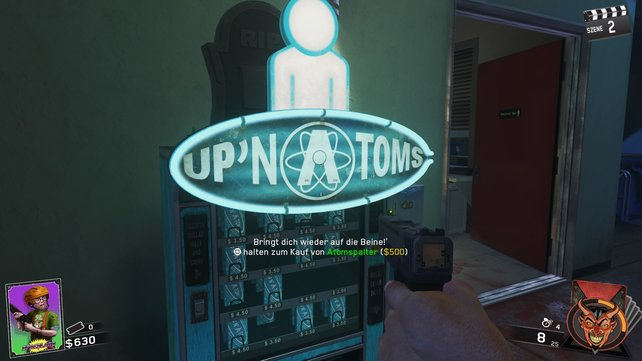 Atomspalter von Up 'n Atoms: Das wichtigste Zombie-Perk findet ihr gleich im Anfangsbereich.