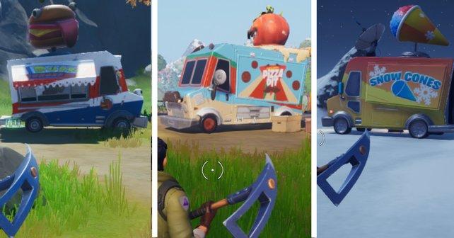 In dieser Herausforderung in Fortnite gilt es für euch drei Imbisswagen zu besuchen. In diesem Guide zeigen wir euch, wo ihr sie finden könnt.