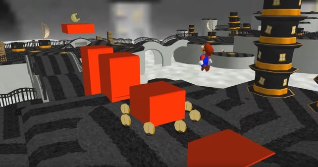 """Das Hutland aus Super Mario Odyssey ist trotz """"Nintendo 64""""-Grafik deutlich zu erkennen."""