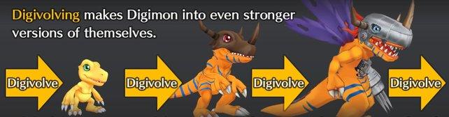 Digivolution stärkt eure Digimon in seinen Fähigkeiten und im Aussehen.