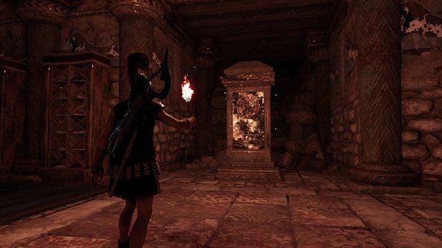 So sehen die Antiken Stelen bei Assassin's Creed – Odyssey aus. Sie bringen euch zusätzliche Fähigkeitspunkte, also zögert nicht, sie zu suchen.