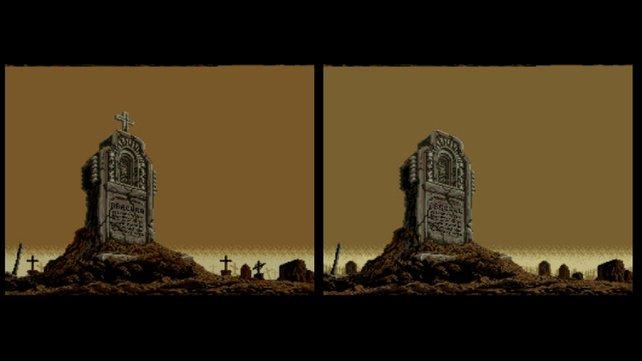 In den westlichen Fassungen (rechts) fehlen christliche Symbole. (Bild von schnittberichte.com)