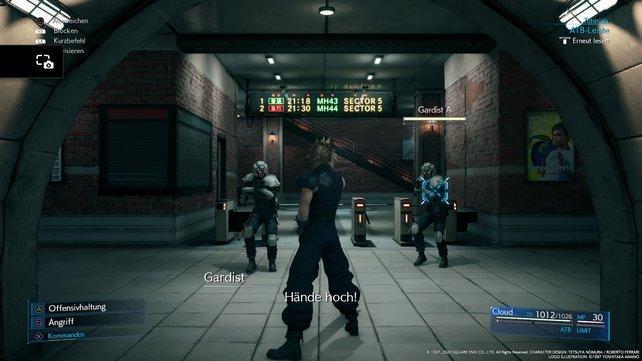 Macht euch nach und nach mit dem neuen Kampfsystem vertraut. Die Gardisten sind dafür die perfekten Übungssubjekte.