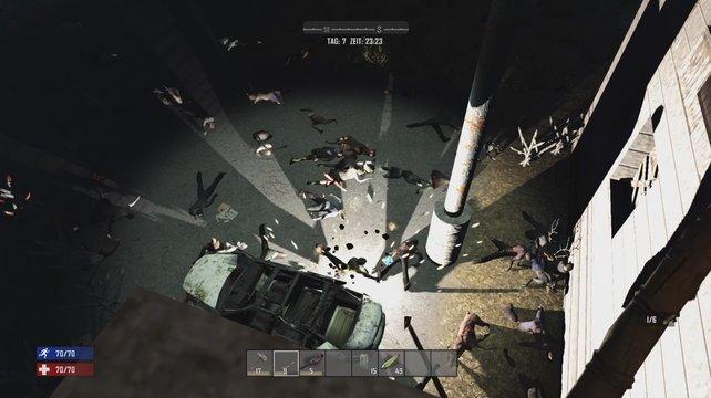 Mit einer gut ausgebauten Festung haltet ihr euch die Zombies vom Leib.