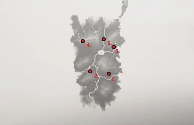 Ghost of Tsushima - Fundorte von 5 versteckten Altären in der Provinz Izuhara.