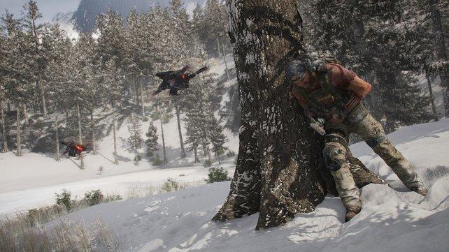 Nicht nur die Wolves setzen euch zu, auch Drohnen zählen zu euren Gegnern.