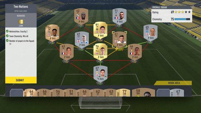 Es gibt keine ultimative Formation bei FIFA 17, ihr müsst diese sowie die Aufstellung anhand verschiedener Kriterien bestimmen.