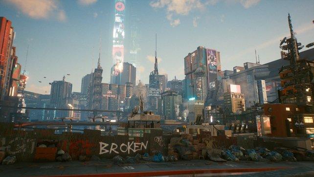 Night City ist ein wunderbares verlorenes Las Vegas der Zukunft. Alle Personen bringen ihre Träume mit, um mitanzusehen, wie aus ihnen Albträume werden.