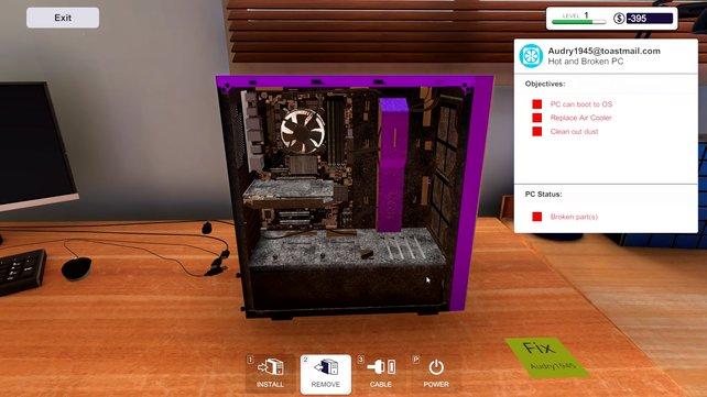 Schmutzfink am Werk! Rechner zu säubern gehört auch zu euren Aufgaben.