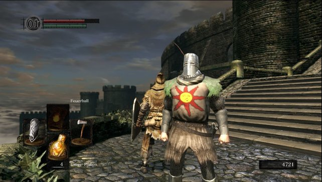 Das erste Treffen mit Solaire ereignet sich in der Stadt der Untoten.