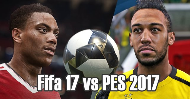 Links Fifa, rechts PES.