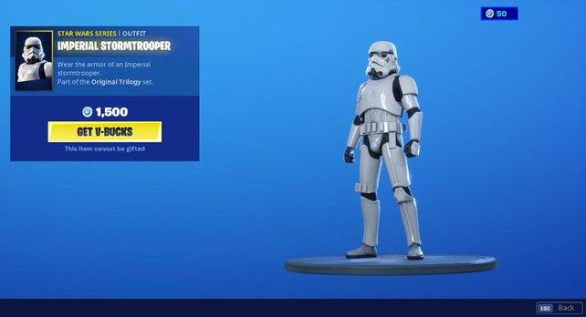 So sieht der Fortnite-Skin zu Star Wars aus.