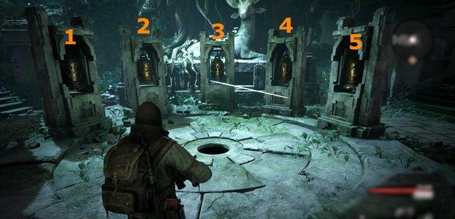 Das dritte Glockenrätsel findet in einem Dungeon statt, der zufällig generiert wird.