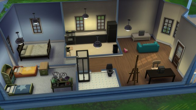 Haltet euch zu Beginn so simpel wie möglich beim Einrichten des Hauses.