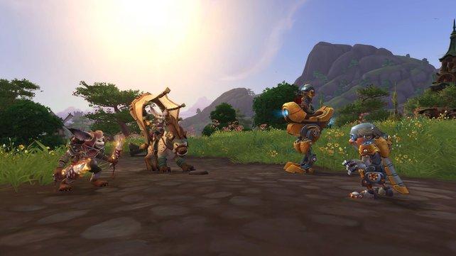Vulpera (links) und Mechagnome sind die neuen Völker für Horde und Allianz.