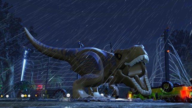 Mit Gebrüll - die Klötzchendinos sorgen für eine nostalgische Reise durch die Welt von Jurassic Park.