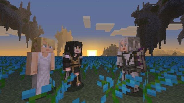 Lunafreya wagt ebenfalls einen Ausflug in die Minecraft-Welt
