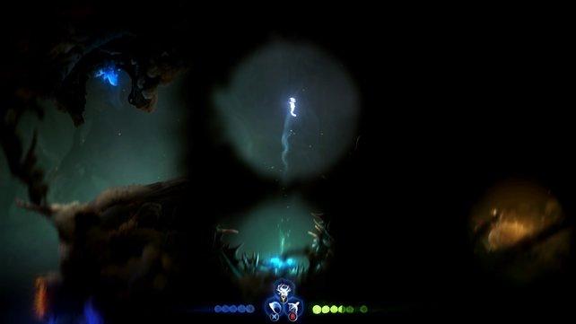 Springt vom Trampolin weiter in die Kammer auf der rechten Seite.
