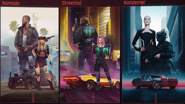 Streetkid, Nomade oder Konzerner: Diese drei Lebenswege habt ihr zur Auswahl.