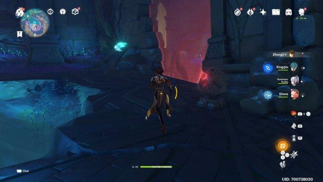 Hier startet das große Labyrinth mit den farbigen Barrieren.