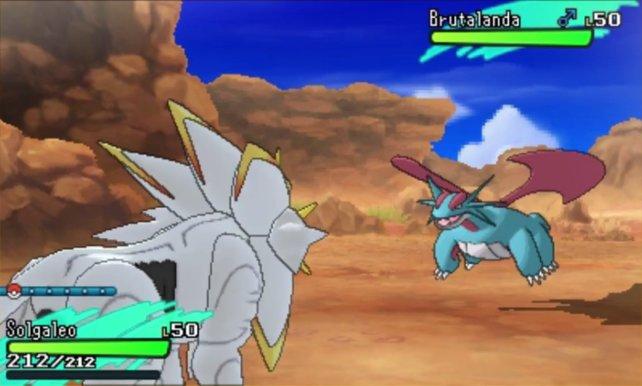 Rundenweise bekämpft ihr den Gegner - diesmal auch mit Z-Attacken.