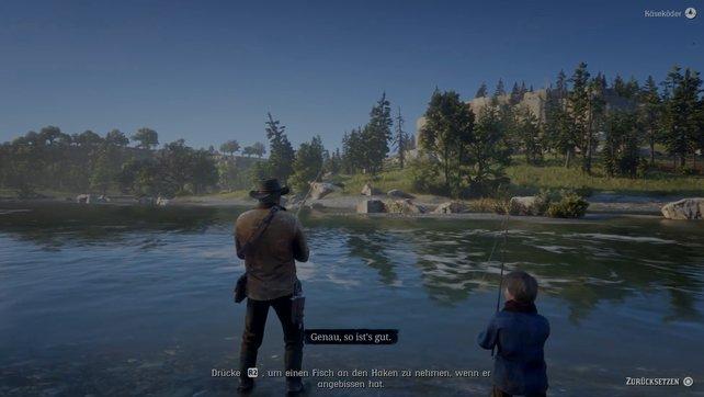 Fangt ein paar Fische und zwigt Jack, wie das richtig geht. Der Junge braucht mal etwas Abwechslung.