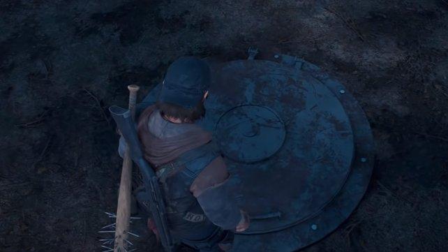 Haltet Ausschau nach einer Luke, die in den geheimen Bunker eines Camps führt.