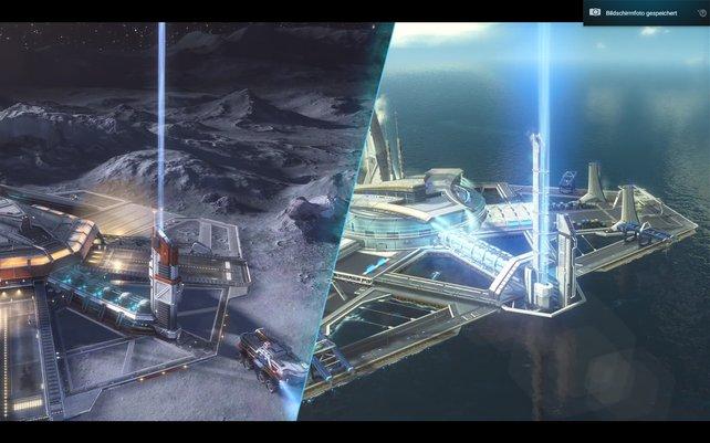 Habt ihr einen Fusionsreaktor auf dem Mond errichtet, könnt ihr Unmengen an Energie an die Erde senden. Natürlich via Leuchtstrahl-Express.