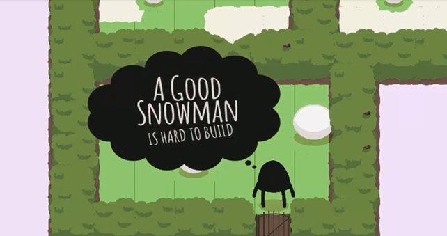 Keine Hektik. Zum Bauen eures Schneemanns könnt ihr euch getrost Zeit lassen.