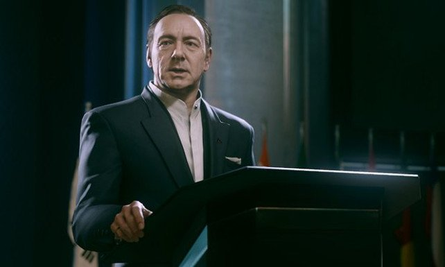 Kevin Spacy in Call of Duty - Advanced Warfare.