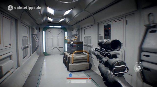 Diese grauen Boxen stellen die Sammelobjekte in der Kampagne von Star Wars Battlefront 2 dar.