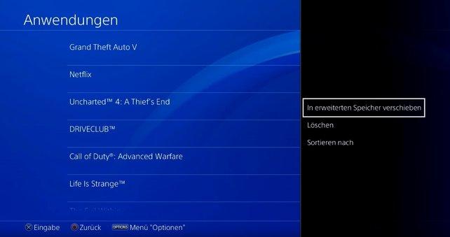 In wenigen Schritten könnt ihr PS4-Spiele auf eine externe Festplatte verschieben.