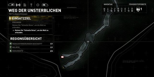 Karte: Weg der Unsterblichen.