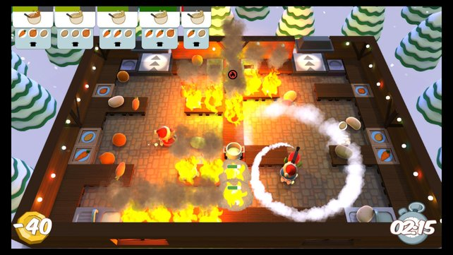 Typisch Weihnachten! Da brennt die Hütte und der Trottel vom Dienst dreht Pirouetten mit dem Feuerlöscher.
