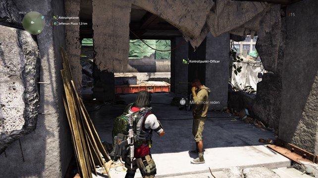 Knifflig: Nicht immer derselbe NPC ist der Kontrollpunkt-Officer - haltet die Aufen offen!