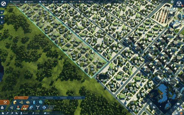 """Häuser könnt ihr jetzt gleich in ganzen Blocks bauen. Jedes dieser Häuser ist viermal so groß wie ein normales. Wer komplizierte Worte mag, nennt das """"Hochgeschwindigkeitsgesellschaftswachstum""""."""