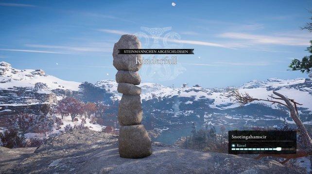 So sieht die Lösung des Steinmännchen-Rätsels in Snotingahamscir aus.