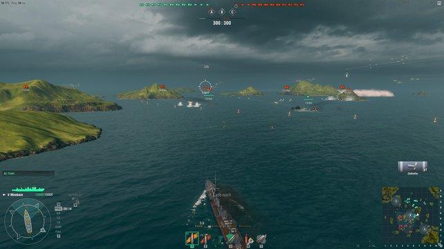 Dank guter Aufklärung wisst ihr, dass die feindliche Flotte planlos in der Mitte der Karte herumzuckelt.