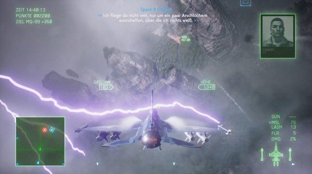 Das war knapp: Fliegen euch Blitze um die Ohren, ist das auch optisch schön anzusehen.
