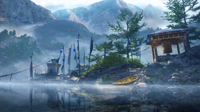 Kyrat beeindruckt mit einer wunderschönen Umgebung, in der es sich bestimmt gut wandern lässt.