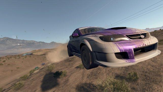 Hui! Sprungschanzen und Hügel sind wahre REP-Lieferanten, wenn euer Wagen schnell genug ist.