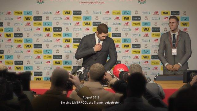 Startet ihr im Meister-Liga-Modus eure Trainer-Karriere, ist euer erster Termin die Pressekonferenz zwecks eurer eigenen Vorstellung.