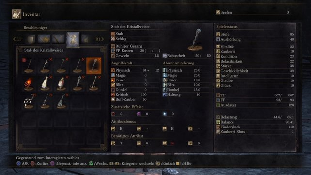 Dark Souls 3: Diesen Zauberstab bekommt ihr, wenn ihr den Kristallweisen besiegt.