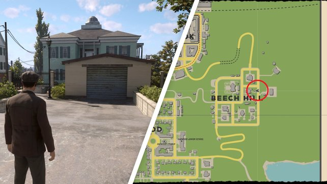 Beech Hill befindet sich ganz im Osten der Karte. Die Garage am Fundort könnt ihr kaum übersehen.