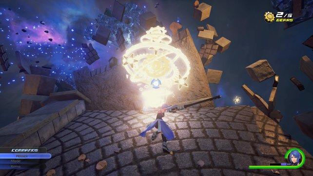 Aqua findet eines der begehrten Zeit-Fragmente.