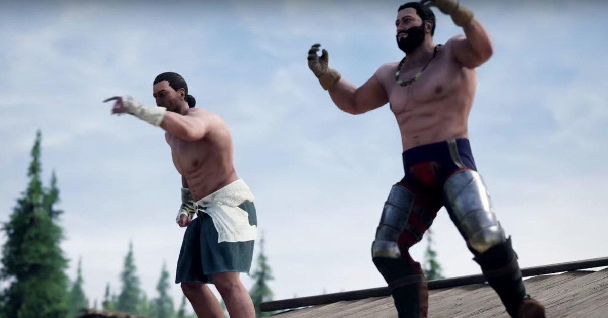 Mordhau: Zwei Spieler vermöbeln ihre Kontrahenten mit bloßen Fäusten