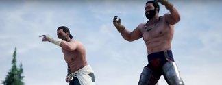 Panorama: Zwei Spieler vermöbeln ihre Kontrahenten mit bloßen Fäusten