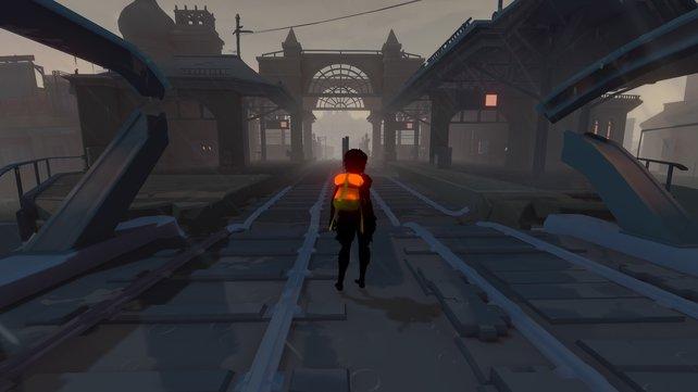 In Sea of Solitude seid ihr an vielen Erinnerungsorten unterwegs. Hier etwa ein alter Bahnhof - ein Symbol für Abschied.
