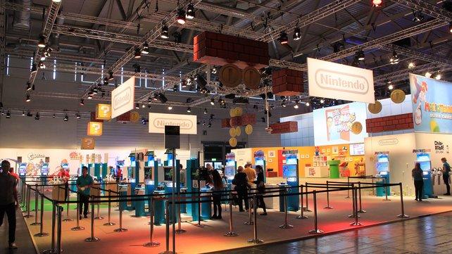 Wenig Neues, dafür viele Spielstationen locken Anhänger zu Nintendo.