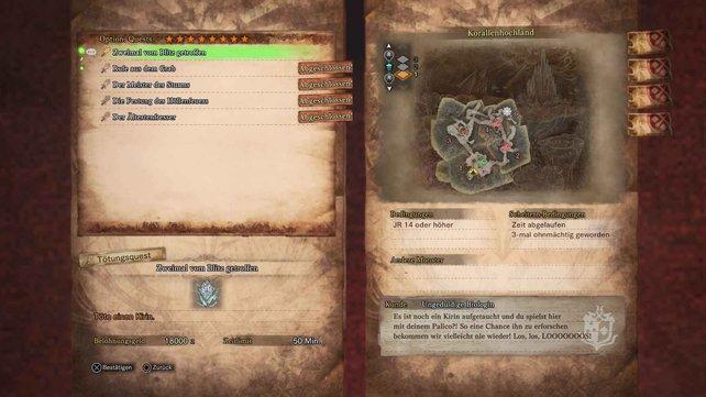 Gebt nicht auf! Bei Monster Hunter World gibt es nun mal viele optionale Nebenquests.